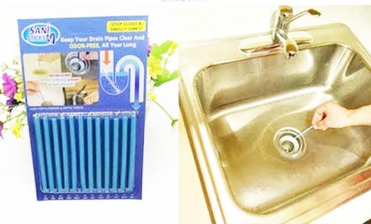 Sử dụng que thông cống cho bồn rửa bát